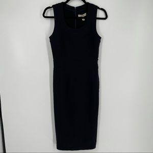 Burberry Black Sleeveless Midi Dress